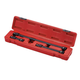 Sunex 3501 3-Piece 3/8 in. Drive Locking Impact Socket Extension Set