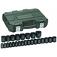 GearWrench 84933 25-Piece 1/2 in. Drive Metric Impact Socket Set