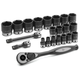 Grey Pneumatic 82622 22-Piece 1/2 in. Drive 6-Point SAE Duo Impact Socket Set