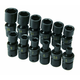 SK Hand Tool 32350 12-Piece 1/4 in. Drive Swivel Metric Impact Socket Set