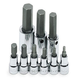 SK Hand Tool 19734 9-Piece 3/8 in. and 1/2 in. Drive Metric Hex Bit Socket Set