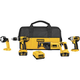 Factory Reconditioned Dewalt DCK465LR 18V XRP Cordless Lithium-Ion 4-Tool Combo Kit