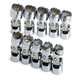 SK Hand Tool 3911 10-Piece 3/8 in. Drive 12-Point Flex Metric Socket Set