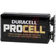 Duracell PC1604BKD Procell Alkaline Batteries, 9V, 12/Box