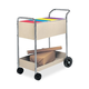Fellowes Mfg Co. 40922 20 in. x 40-1/2 in. x 39 in. 150 Folder Steel Mail Cart (Grey)