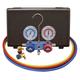 Mastercool 89660-PRO5 R134A Aluminum 2-Way Manifold Gauge Set with Can Tap Valve