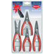 Knipex 002003SB Snap Ring Pliers Set with Spring Steel Tips, 4Pc
