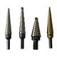 Irwin Vise-Grip 10228 4-Piece Unibit Step Drill Set with #1T