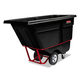 Rubbermaid 1305BLA 1/2 cu-yd. 850 lb. Capacity Rotomolded Rectangular Plastic Tilt Truck (Black)