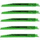 Hitachi 725362 8 in. Progressive Bi-Metal All Purpose Reciprocating Saw Blade (5-Pack)