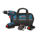 Bosch DDB180BKIT-BNDL 18V 1.3 Ah Cordless Lithium-Ion 3/8 in. Drill Driver Kit with Contractor Bag