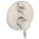 Hansgrohe 04231820 S Thermostatic Trim with Volume Control & Diverter (Brushed Nickel)