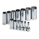 SK Hand Tool 4453 13-Piece 3/8 in. Drive 12-Point Deep Well SAE Socket Set