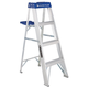Louisville AS2104 4 ft. Type I Duty Rating 250 lbs. Load Capacity Aluminum Step Ladder with Molded Pail Shelf