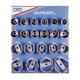 OTC Tools & Equipment 9850 6-Point Wheel Bearing Locknut Sockets with Tool Board