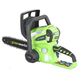 Greenworks 20082A 40V Cordless Lithium-Ion 12 in. Chainsaw