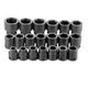 SK Hand Tool 84419 20-Piece 3/4 in. Drive 6-Point Standard Metric Impact Socket Set