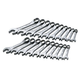 SK Hand Tool 86250 20-Piece 12-Point SuperKrome Fractional/Metric Short Combination Wrench Set