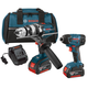 Factory Reconditioned Bosch CLPK222-181-RT 18V 4.0 Ah Cordless Lithium-Ion Brute Tough Hammer Drill and Hex Impact Driver Combo Kit