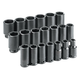 SK Hand Tool 87920 20-Piece 3/4 in. Drive 6-Point Deep Fractional Impact Socket Set