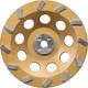 Makita A-96419 7 in. Anti-Vibration 12 Segment Turbo Diamond Cup Wheel