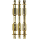 Makita B-49616 Impact GOLD 3-Piece Assorted 2-1/2 in. Torx Double-Ended Power Bits