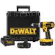 Dewalt DC725KA 18V Cordless 1/2 in. Compact Hammer Drill Kit