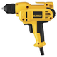 Dewalt DWD115K 3/8 in. 0 - 2,500 RPM 8.0 Amp VSR Mid-Handle Drill Kit with Keyless Chuck