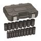 GearWrench 84934N 19-Piece SAE 1/2 in. Drive Deep Impact Socket Set