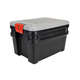Rubbermaid 1172-04-38 24 GAL STORAGE CONTAINERBLACK WITH GRAY LID