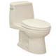 TOTO MS854114E-12 Eco UltraMax Elongated 1-Piece Floor Mount Toilet (Sedona Beige)