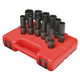 Sunex Tools 3677 12-Piece 3/8 in. Drive Deep Universal 12-Point SAE Impact Socket Set