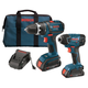 Bosch CLPK233-181 18V 2.0 Ah Cordless Lithium-Ion EC Brushless Drill Driver & Impact Driver Combo Kit