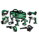 Hitachi KC18DX9L HXP 18V Cordless Lithium-Ion 9-Tool Combo Kit