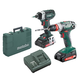 Metabo US602217196 18V 2.0 Ah Cordless Lithium-Ion 3/8 in. Drill Driver and 1/4 in. Impact Driver Combo Kit