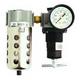 Milton Industries 1106 1/4 in. Mini Filter/Regulator with Poly Bowl & Metal Bowl Guard