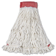 Rubbermaid A253WHI 6-Piece Web Foot Shrinkless Large Cotton/Synthetic Wet Mop Head with 5 in. Headband (White)