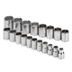 SK Hand Tool 1919 19-Piece 1/2 in. Drive 12-Point Metric Socket Set