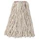 Rubbermaid F11612 12-Piece 16 oz. Premium Cut-End Cotton Wet Mop Head with 1 in. Orange Band (White)