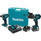 Makita XT218MB LXT 18V 4.0 Ah Cordless Lithium-Ion Impact Driver and Hammer Drill Driver Combo Kit