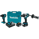 Makita XT257TB LXT 18V 5.0 Ah Cordless Lithium-Ion Brushless Impact Driver and Hammer Driver Drill Combo Kit