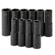 SK Hand Tool 4033 10-Piece 1/2 in. Drive 6-Point Deep Well Metric Impact Socket Set