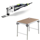 Festool C31500608 Vecturo 3.3 Amps Oscillating Multi-Tool Kit plus MFT/3 Basic  Multi-Function Work Table