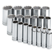 SK Hand Tool 4819-6 19-Piece 1/2 in. Drive 6-Point Deep SAE Socket Set