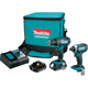 Makita CT225R LXT 18V 2.0 Ah Cordless Lithium-Ion Compact Impact Driver and 1/2 in. Drill Driver Combo Kit