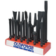 Mayhew 37394 18-Piece Pneumatic Tool Set on Display Block