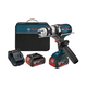Factory Reconditioned Bosch HDH181X-01-RT 18V Cordless Lithium-Ion 1/2 in. Brute Tough Hammer Drill Driver with Active Response Technology