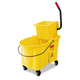 Rubbermaid 618688YW WaveBrake 44 Quart Bucket/Sideward Pressure Wringer Combination (Yellow)