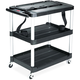 Rubbermaid 9T28 MediaMaster Portable Three-Shelf AV Cart (Black)