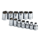 SK Hand Tool 13 13-Piece 3/8 in. Drive 6-Point Standard Metric Socket Set